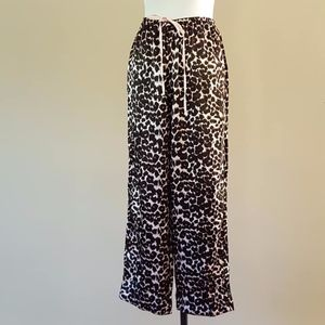 PINK Pajama Pants Animal Wildcat Leopard Print